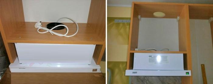 Кухонная вытяжка в шкафу