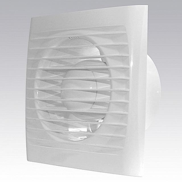 Обычный осевой вентилятор настенного (накладного) типа