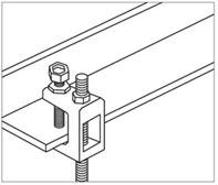 Монтаж струбцины со шпилькой к балке