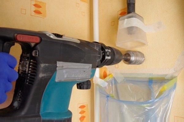 Шаг 1: Бурение отверстия для установки клапана