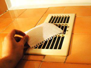 приложите к решетке листок бумаги