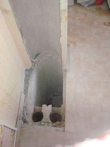 разбитая вентиляционная шахта на кухне