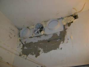 вентиляторы установлены непосредственно в шахту