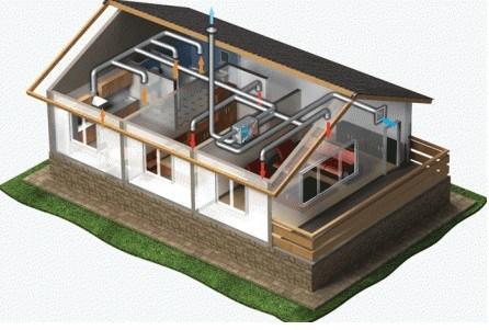 Схема прокладки воздуховодов