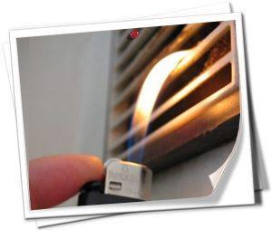 Поведение пламени говорит о рабочей вентиляции