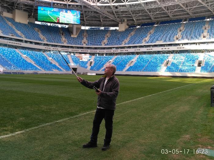 Замеры скорости воздуха на стадионе Зенит-Арена
