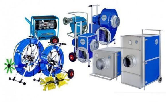Специализированное оборудование для чистки вентиляционных систем
