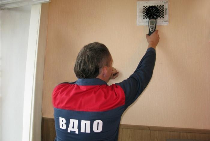 Проверка дымоходов и вентиляции спецслужбой
