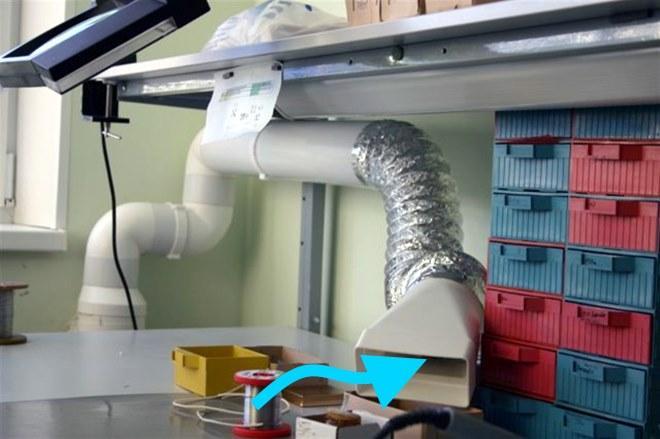 Местная вытяжка для лаборатории пром.электроники