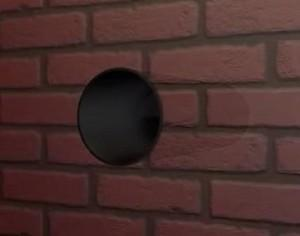 Отверстие в стене для принудительной приточной вытяжки