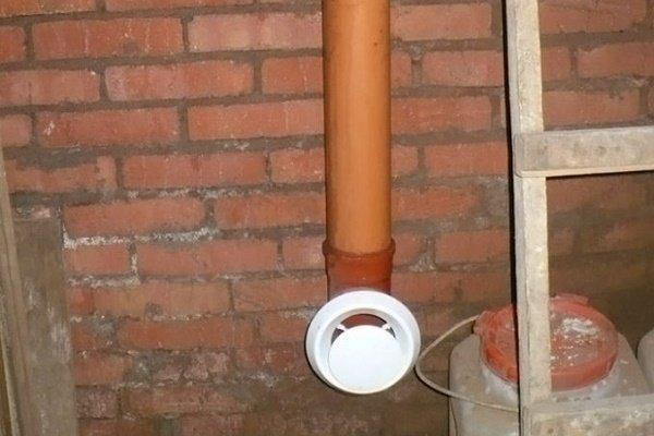 Воздуховод в подвале частного дома