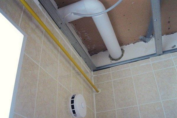 Прокладка воздуховодов за фальш-потолком