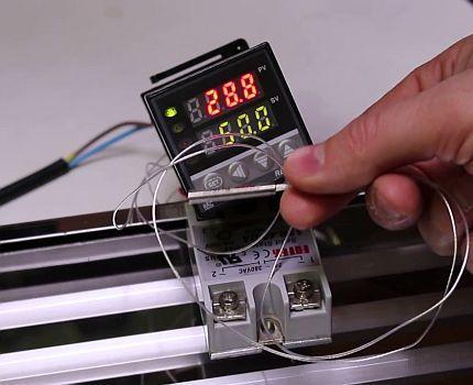 Подключение температурного датчика в реле