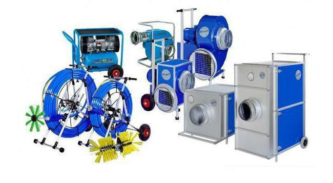 Щеточная машина и другое оборудование для чистки вентиляции