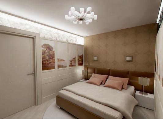 Спальня в помещении без окон