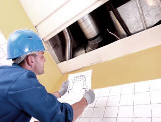 Монтаж простой приточно-вытяжной вентиляции
