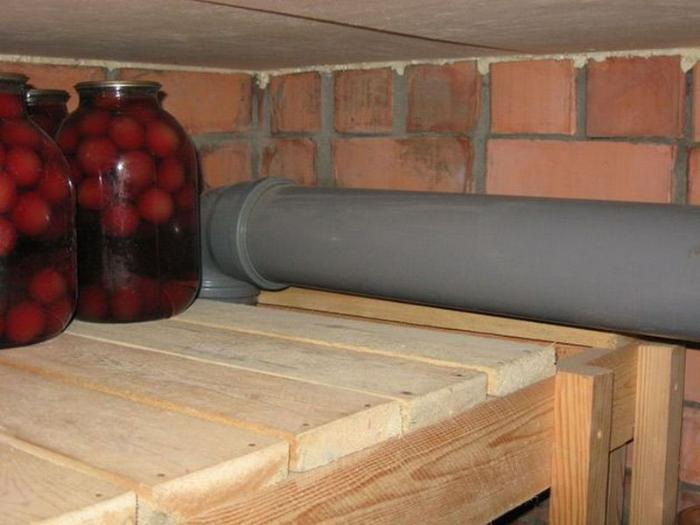 подвод вентиляции в гараже