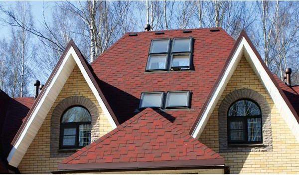 Вальмовая мансардная крыша