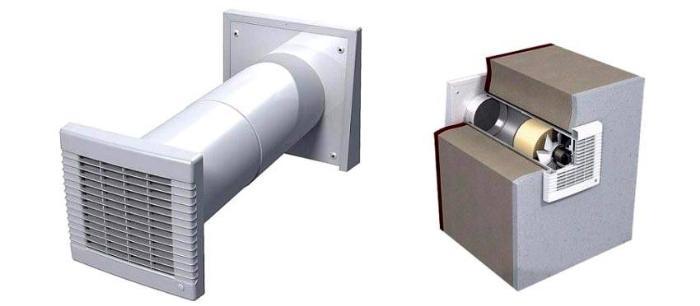 Обратный клапан для принудительной вентиляции в разрезе