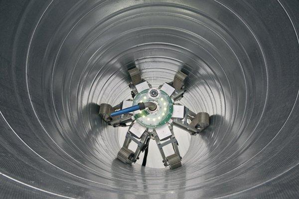 Робот для очистки воздуховодов (криогенный метод)