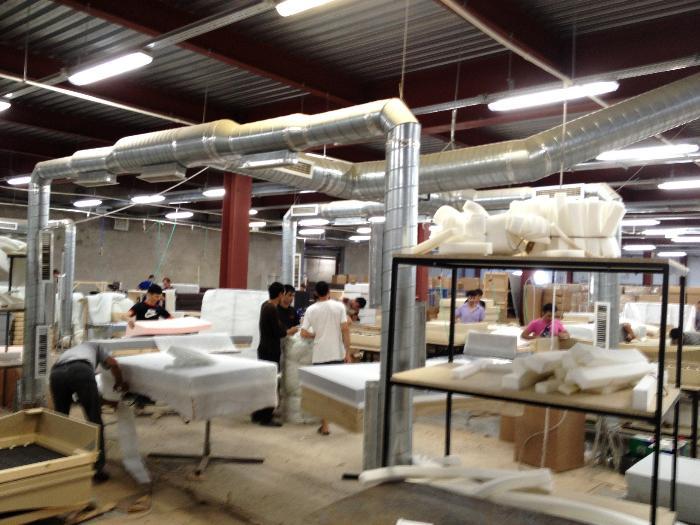 Монтаж промышленной вентиляции в Санкт-Петербурге: Вентиляция промышленных объектов, вентиляция мебельного производства, вентиляция складов,