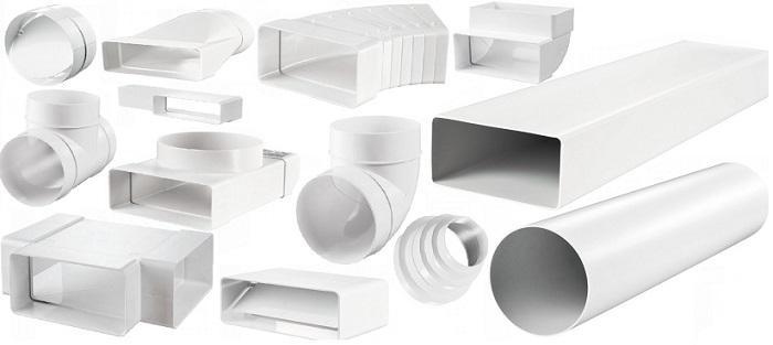 Элементы пластиковой вентиляционной системы
