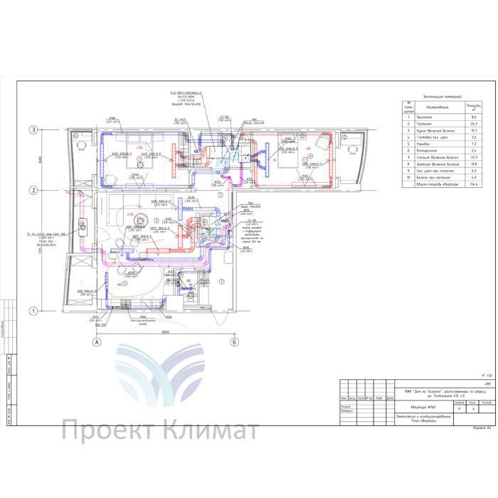 Проект вентиляции и канального кондиционирования в квартире