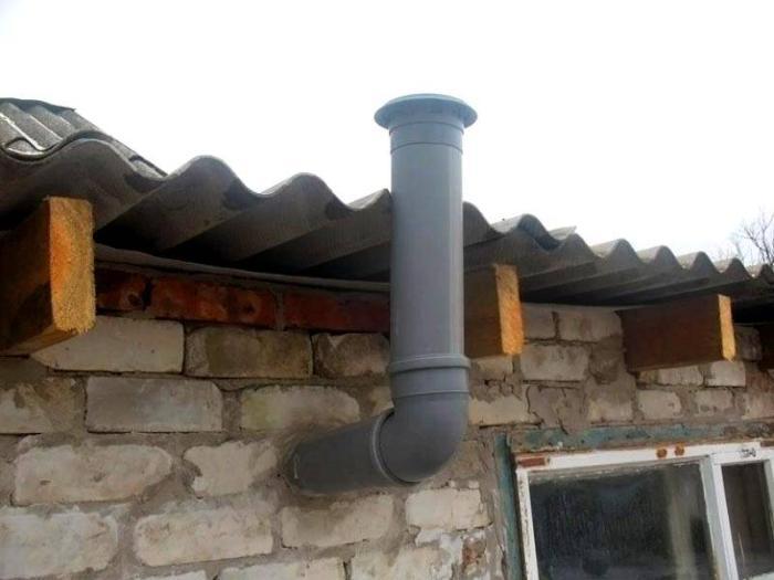 Вентиляционный выход в кирпичной постройке