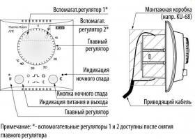 Работа механического регулятора температуры в системах кондиционирования и вентиляции