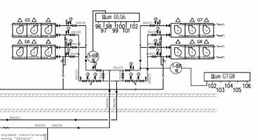 Фрагмент функциональной схемы системы кондиционирования