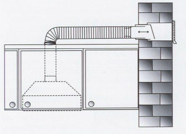 Вертикальный обратный клапан в вентиляционной шахте.