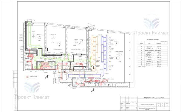 Проект канального кондиционера и вентиляции