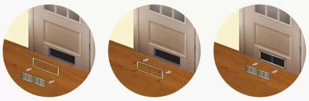 Вентиляционные решетки для двери в санузел