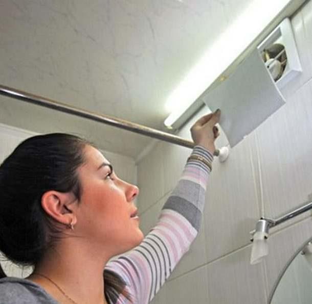 Проверка вентиляции с помощью бумаги