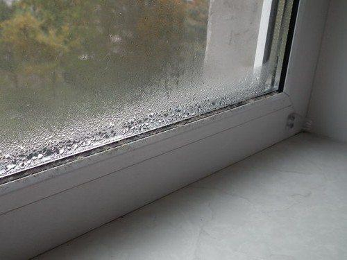 Конденсат на окнах - верный признак недостаточной вентиляции.