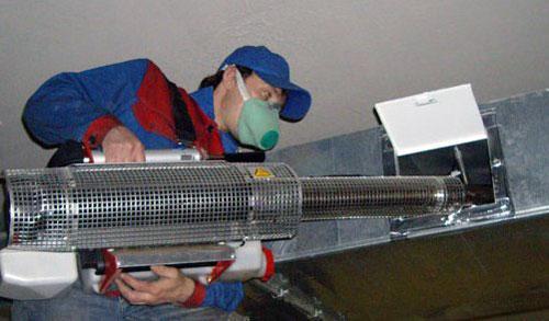 Химическая очистка воздуховода