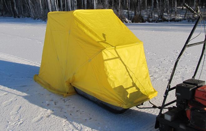 Палатка-сани для зимней рыбалки