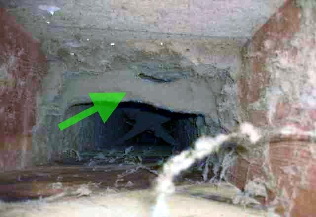 Скопление грязи в вентканале