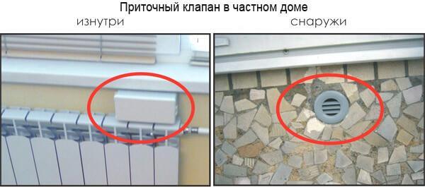 Приточный клапан в частном доме (фото)