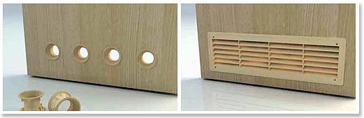 Двери с вентиляционными отверстиями для ванной (фото)