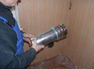 Установка вытяжной трубы