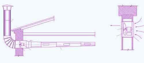 схема вытяжного стояка