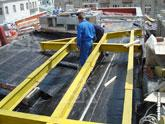 Монтаж на крыше платформы для размещения вентиляционной системы