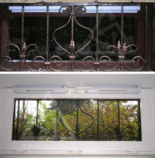 Приточные вентиляционные клапаны Аэрэко на окне снаружи и внутри квартиры