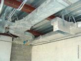 Монтаж воздуховодов в пентхаусе на этапе строительства