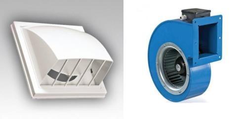 Вытяжка с обратным клапаном и всасывающий вентилятор