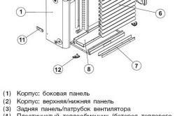 Схема устройства водяного калорифера