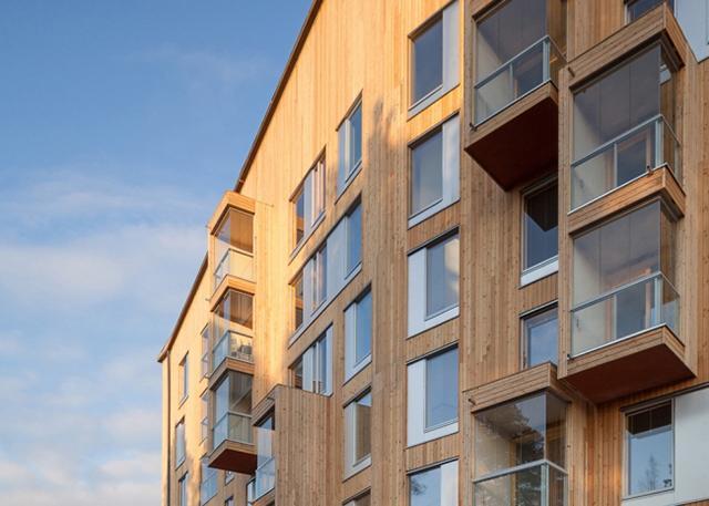 Деревянная многоэтажка в Финляндии