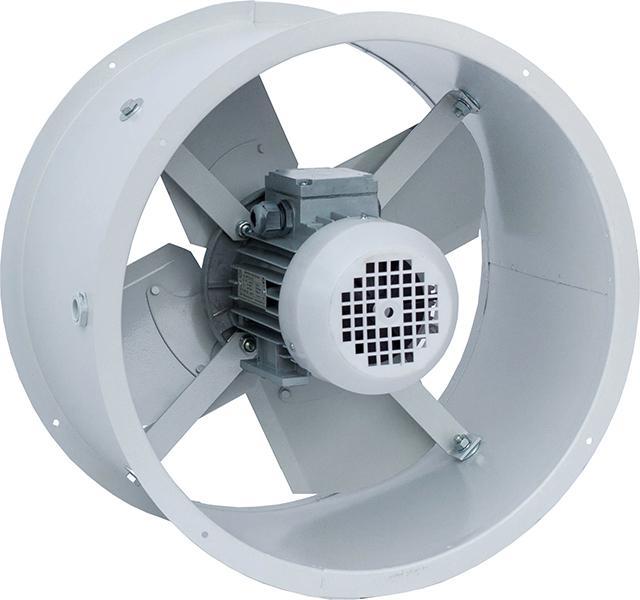 Осевой вентилятор - самая распространенная конструкция в системе вентиляции
