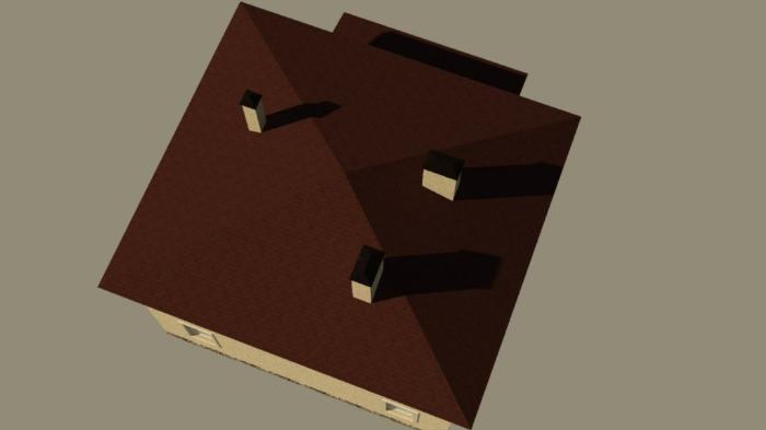 Отток воздуха обеспечивают слуховые окна на противоположных скатах